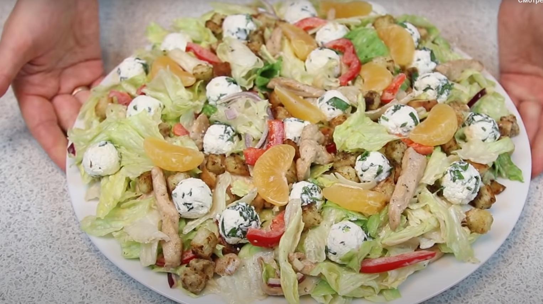 Необычный новогодний салат