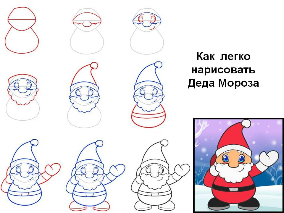 нарисовать рисунок нового года поэтапно кунджа отличный продукт