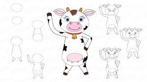 Как нарисовать корову на Новый год