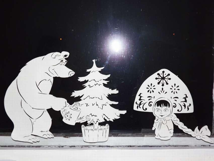 Украшаем окна к встрече Нового года