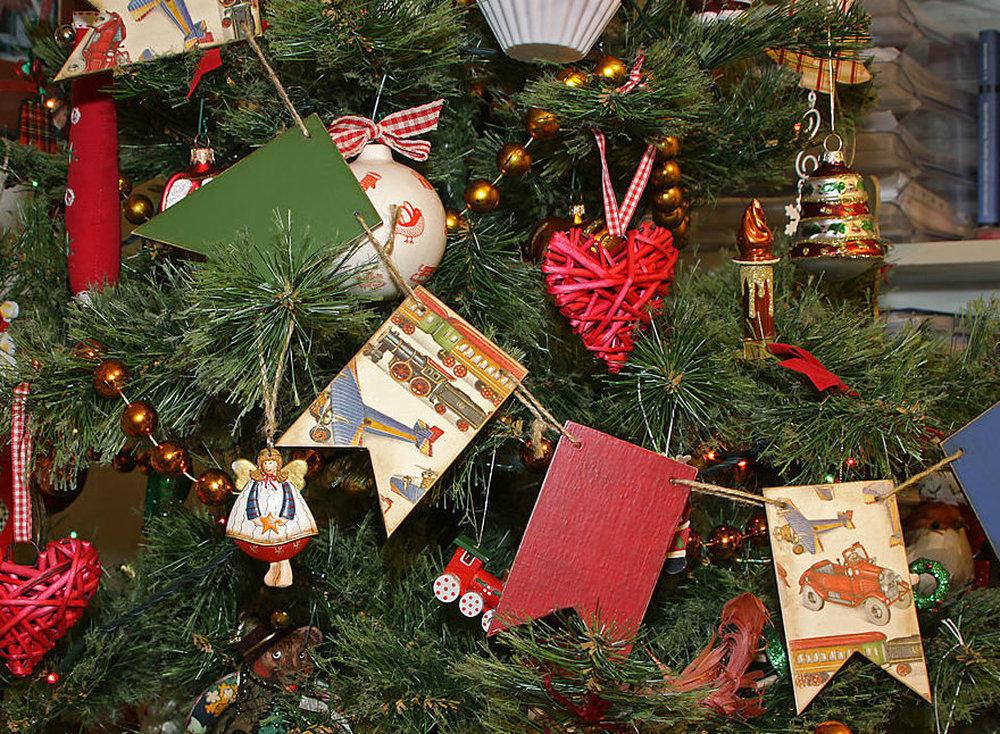 Как украсить ёлку на Новый год в стиле ретро