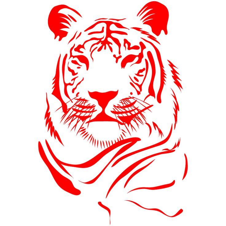Новогодние трафареты с Тигром на окна 2022