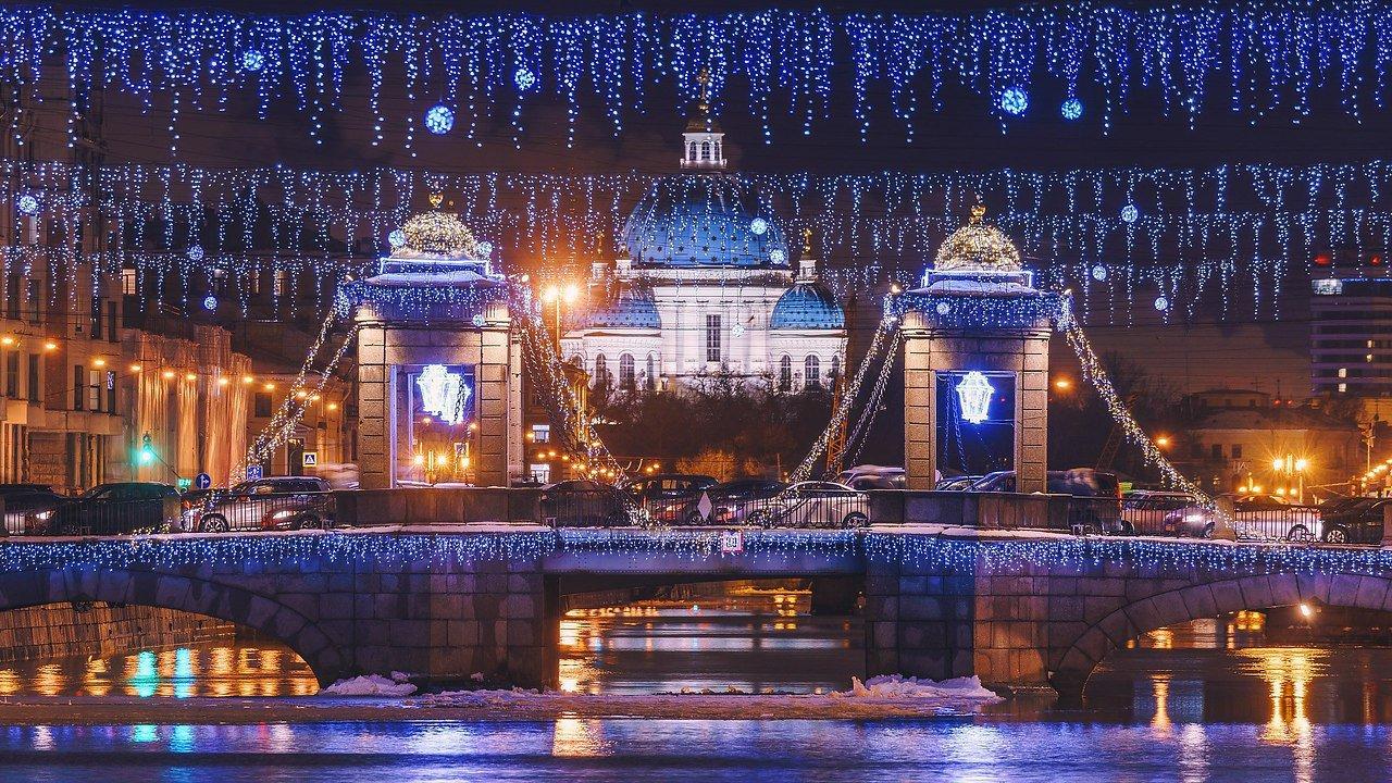 Новогодний питер ночью фото плитка