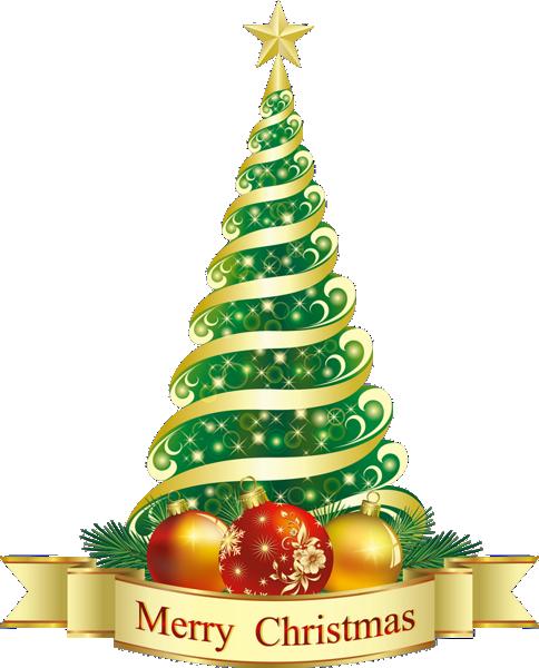 Новогодние ёлки на прозрачном фоне