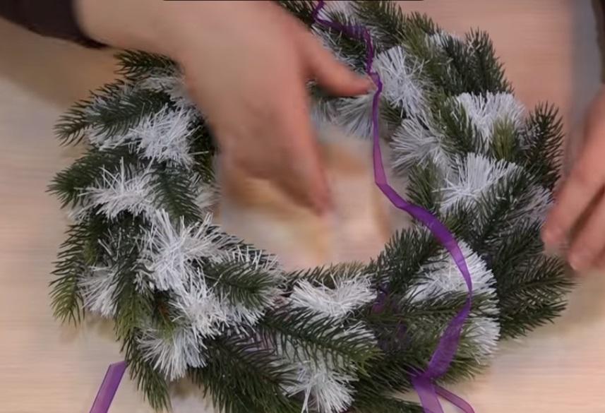 Рождественские венки на Новы своими руками
