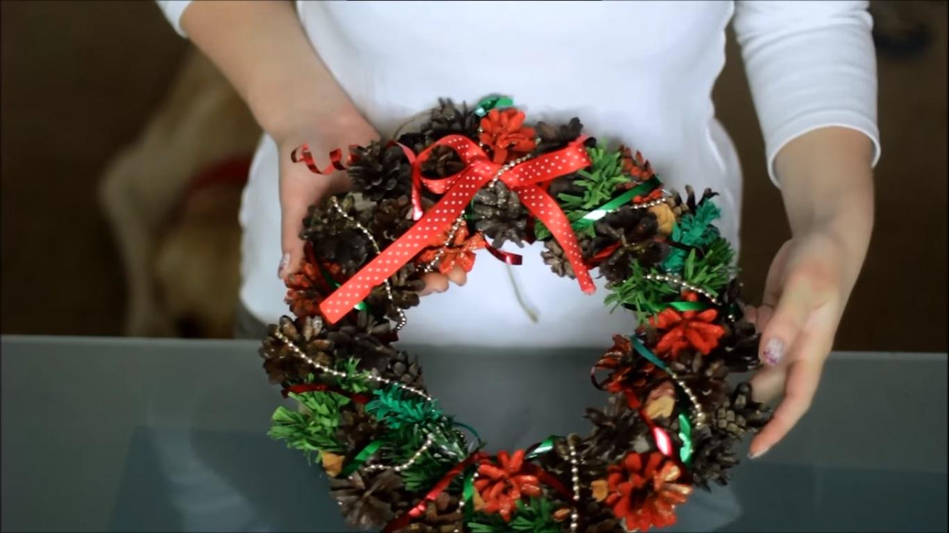 Рождественские венки на Новый год своими руками