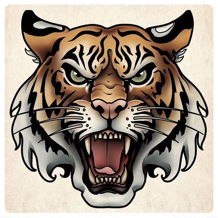 Картинки тигра для срисовки