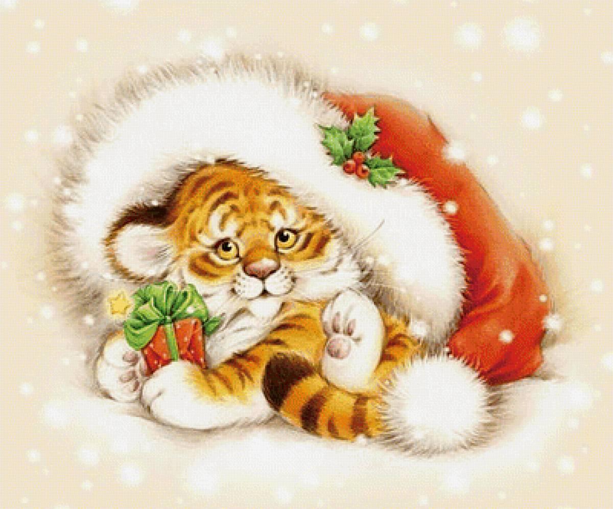 Новогодние картинки с Тигром 2022
