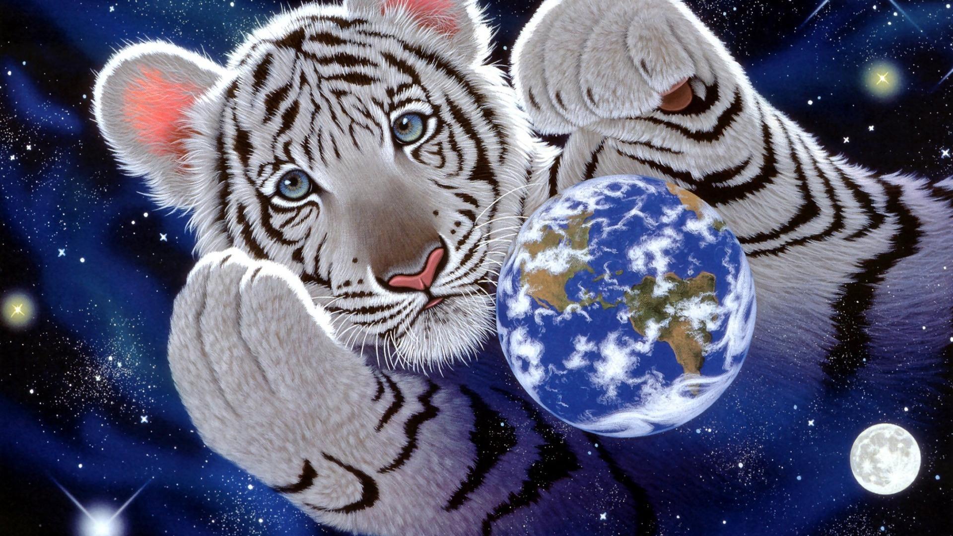 Обои с Тигром на Новый год 2022