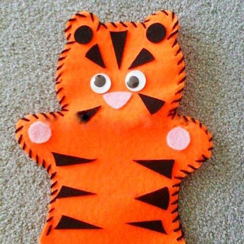 Тигр из фетра своими руками