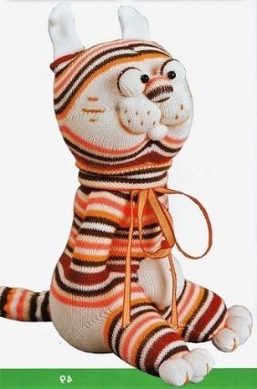 Тигр из носков своими руками