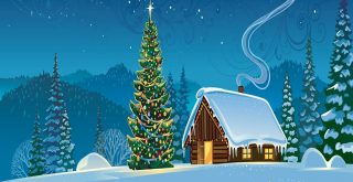 Рисунки с зимними пейзажами